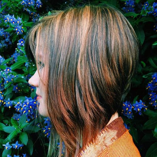 Graduated Bob with Highlights