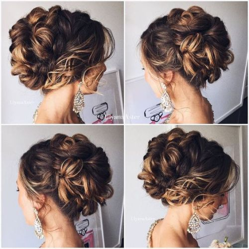 Chic Romantic updos for wedding