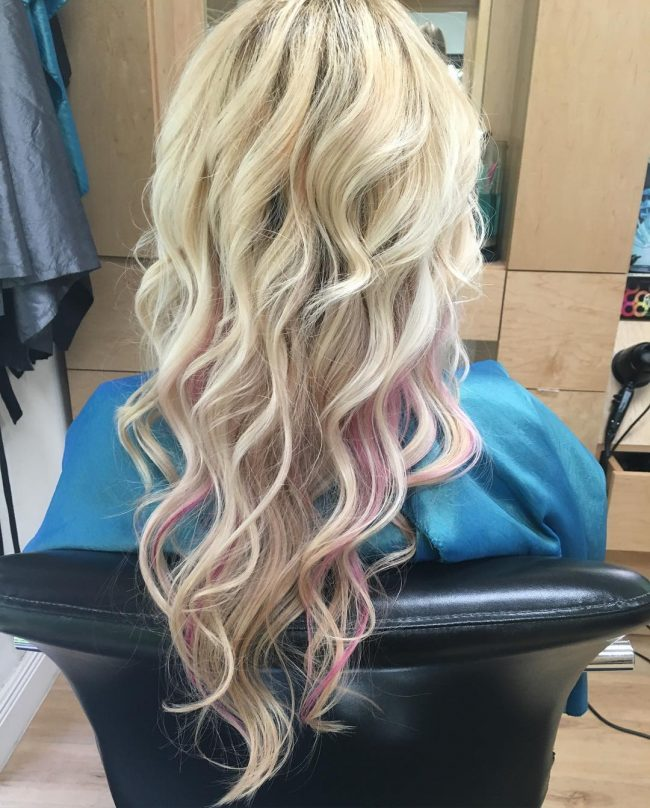 Pink highlights in blonde hair image collections hair extension pink highlights blonde hair pictures the best blonde hair 2017 seriously considering the pink highlights why pmusecretfo Choice Image