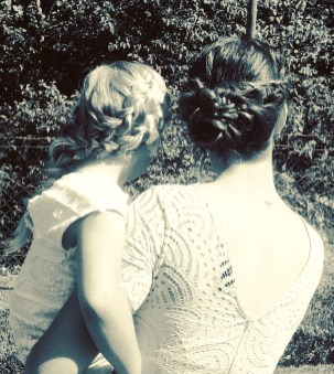 moeder en dochter hairstyling