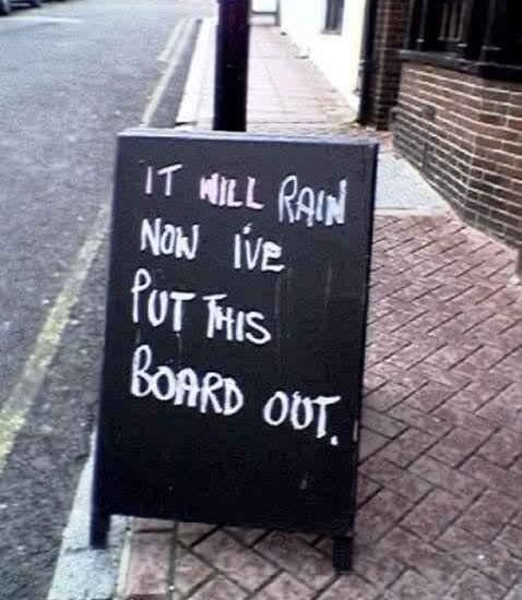rain board 1 - London has become a breeding ground for chalk board wankers.