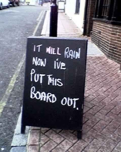 rain board 1 - London has become a breeding ground for chalk board wankers.