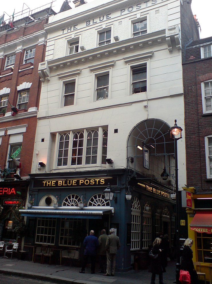 The Blue Posts Piccadilly London Pub Review - The Blue Posts, Piccadilly, London - Pub Review