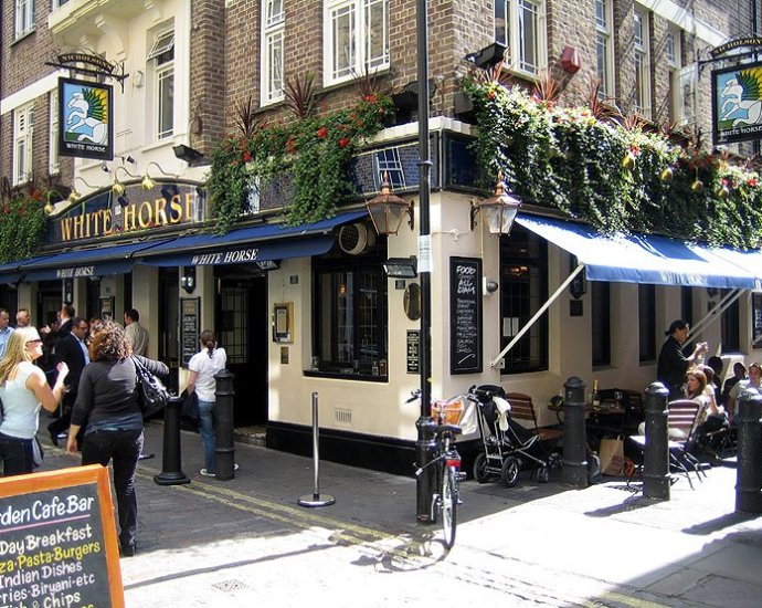 The White Horse Soho London Pub Review - The White Horse, Soho, London - Pub Review