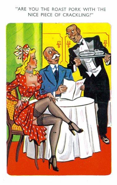 pork crackling postcard - Vintage Pork Crackling Postcard