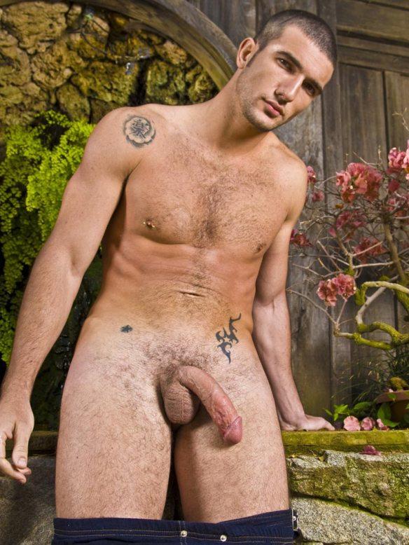 Hot Hairy Hunk Luke Steel Jerks Off By The Pool  Hairy -2127