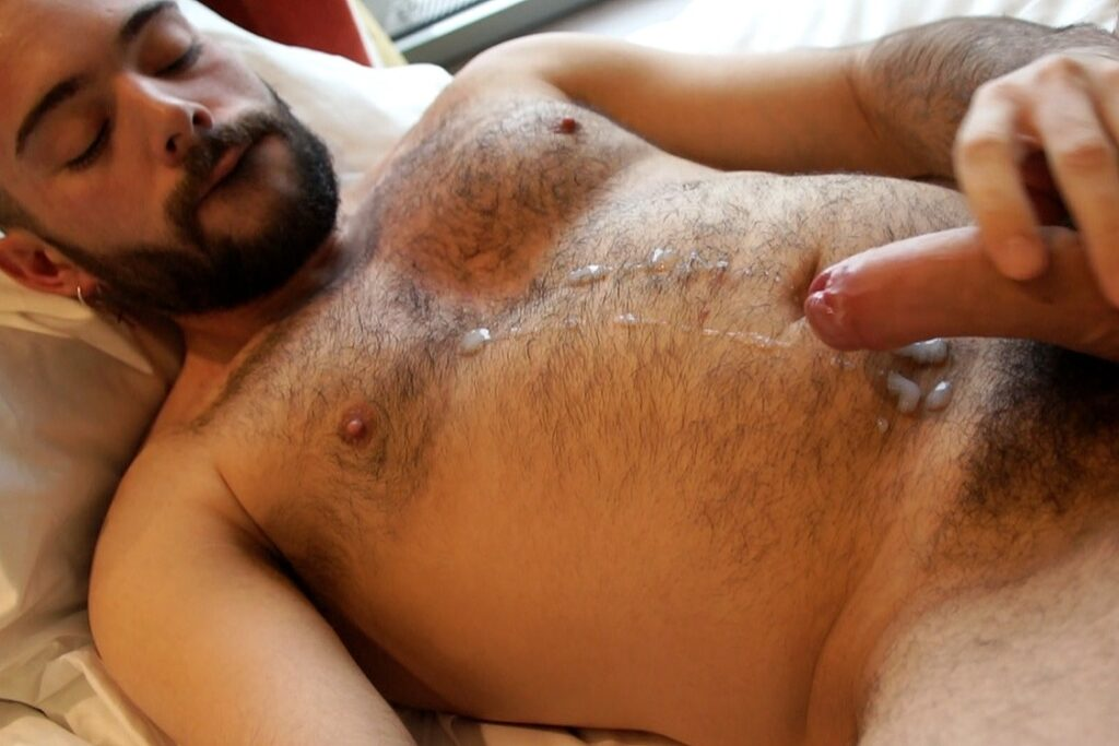 Italian Hottie Anthony Russo Jerks His Big Uncut Dick -2562