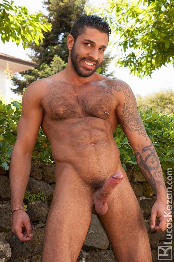 Hairy guy nude