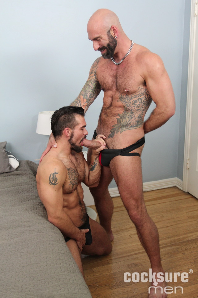 Drew Sebastian Barebacks Aarin Asker - Hairy Guys In Gay Porn-7389