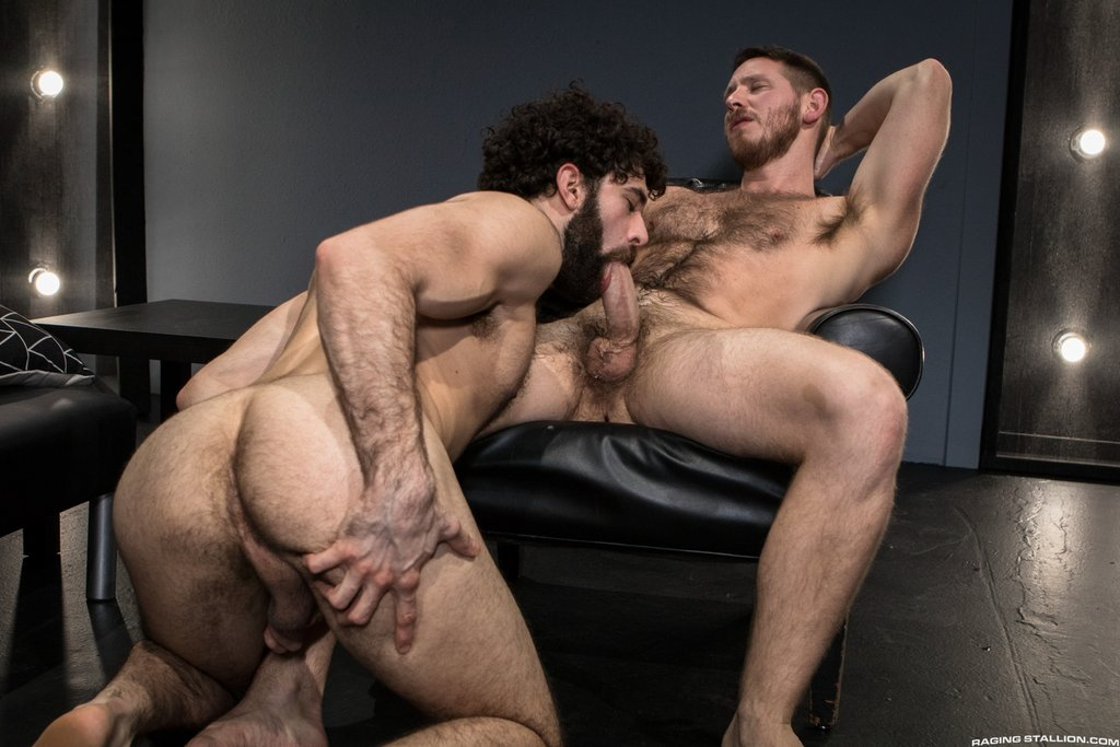 Two Sexy Hairy Guys Suck Dicks 02