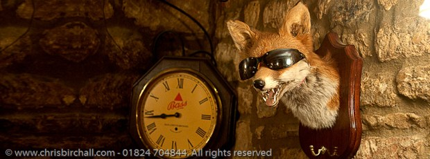 We stayed in the Cotswolds that night and found a lovely pub with a warm welcome.  But somebody should tell foxy that it's been a dull day.