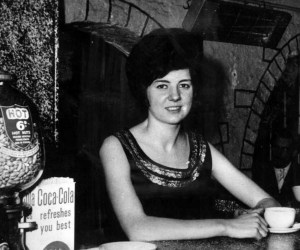 Cilla Black pictured at the Cavern in the early 60's