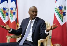 Haitis President Jovenel Moise speaks during an interview with Reuters at the National Palace of Port au Prince