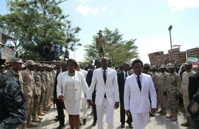 Jovenel Moïse à Marchand pour la 211ème année de commération de la mort de l'empereur Jean Jacques Dessalines.