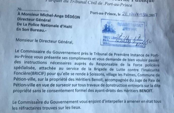 Haïti-Sécurité: insécurité foncière, Clamé Ocnam Daméus part en guerre contre les spoliateurs