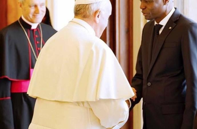 Haïti-Coopération:Jovenel Moïse a rencontré le Pape François