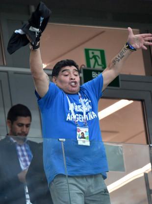 Diego Maradona victime d'un malaise à la fin du Match Argentine-Nigeria