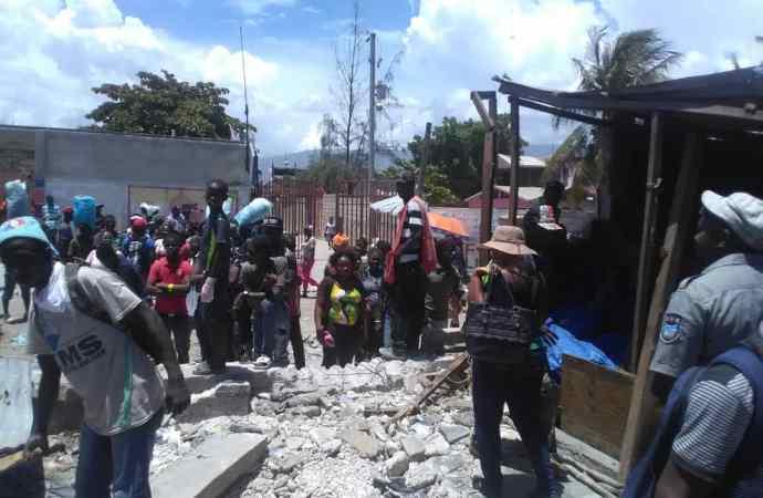 Une vive tension a régné au marché de Tabarre