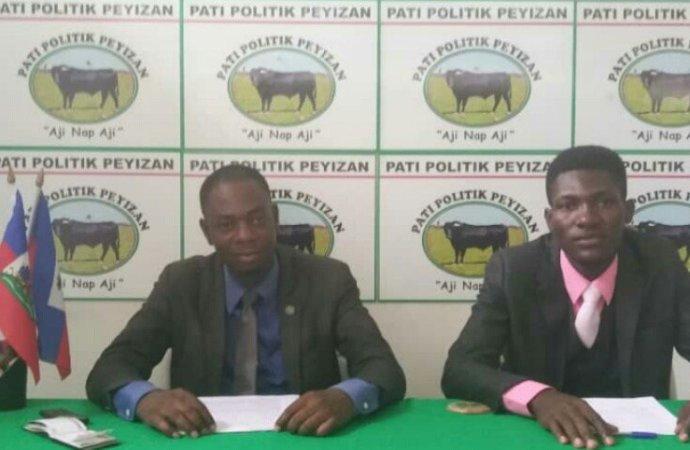 PetroCaribe : le parti politique Peyizan indexe certaines autorités qui tentent de salir l'image de Laurent Lamothe