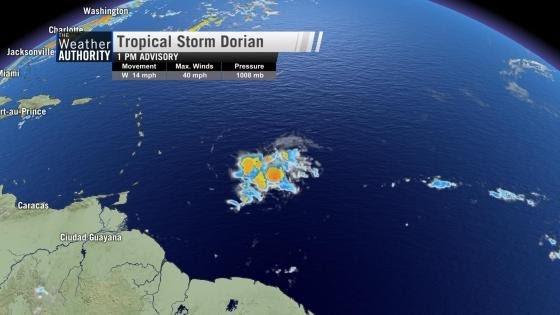 "Météo: Haïti sous la menace de la tempête ""Dorian"""