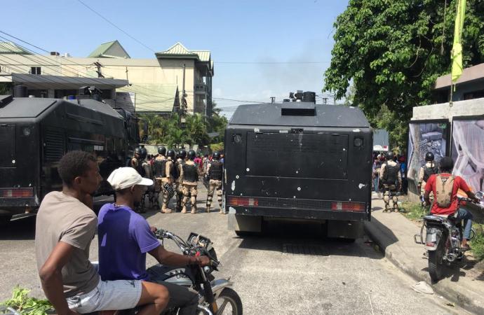 La manifestation de l'opposition dispersée une nouvelle fois à Pétion-Ville