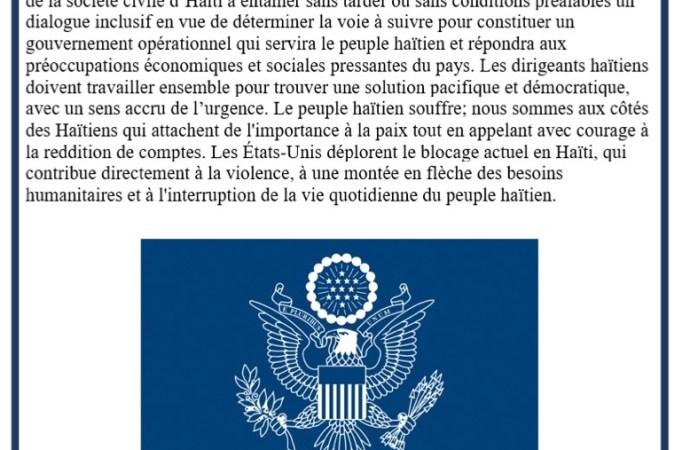 Les USA réitèrent l'appel au dialogue en pleine mobilisation grandissante