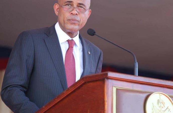 Séisme: Michel Martelly invite les Haïtiens à s'unir pour le progrès du pays