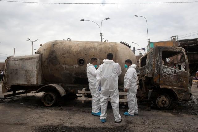 Explosion d'un camion au Pérou: le bilan grimpe à 14 morts