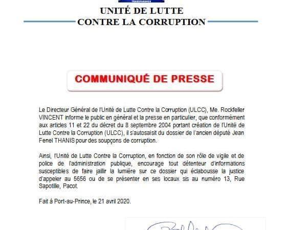 Affaire Jean Fenel Thanis: l'ULCC annonce une enquête