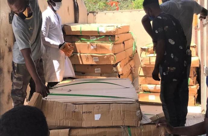 Coronavirus: Le MSPP fait don de matériels et d'équipements médicaux à l'hôpital Saint Luc