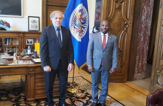 Haïti-OEA : Claude Joseph et Luis Amalgro parlent d'élections
