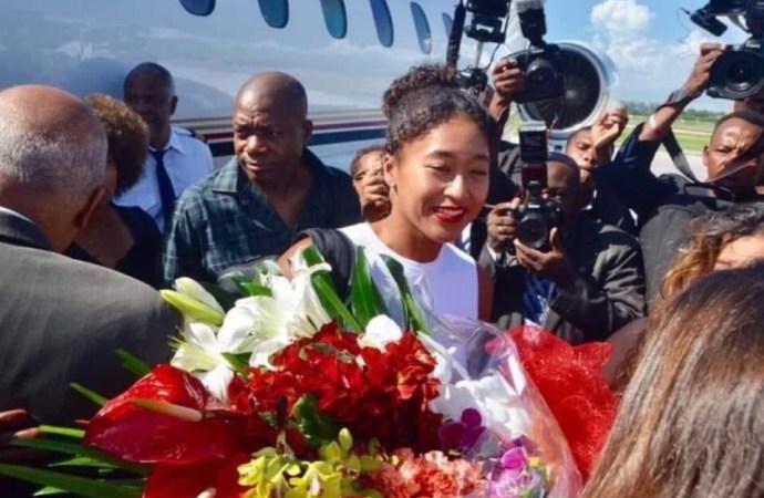 Naomi Osaka en visite en Haïti