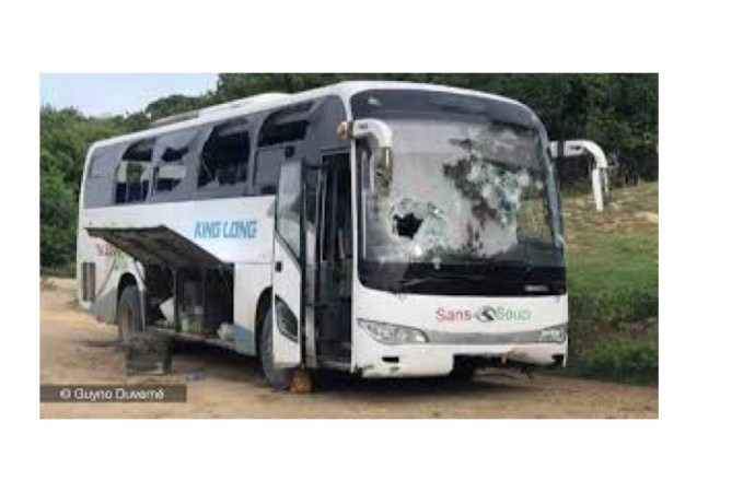 Gros-Morne-Attaque contre un autobus : un blessé par balles !
