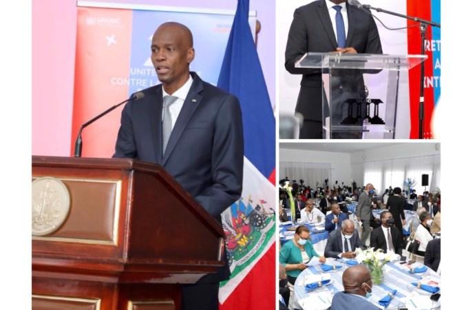 Jovenel Moïse invite l'ULCC à œuvrer pour reprendre le contrôle de l'Administration publique tenue par des « oligarques »
