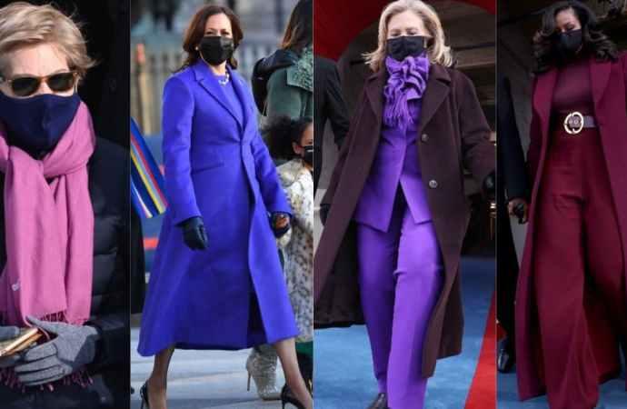 Investiture de Biden : Des femmes en violet, cette tenue n'est pas anodine