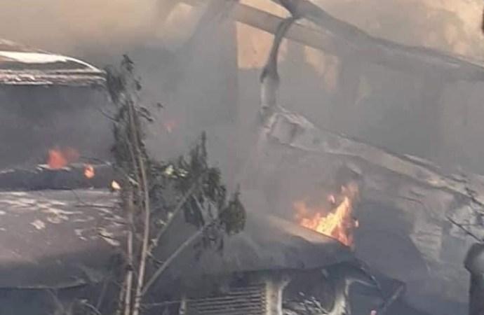 Incendie au garage de la PNH, le ministre de la justice s'insurge