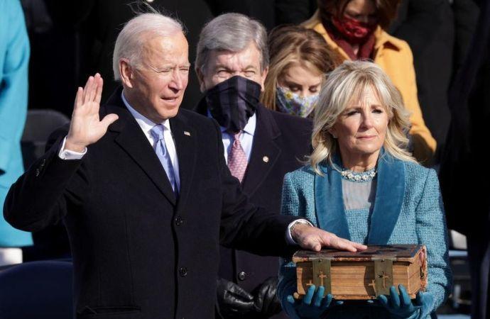 Joe Biden, 46e président des Etats-Unis, investi dans ses fonctions