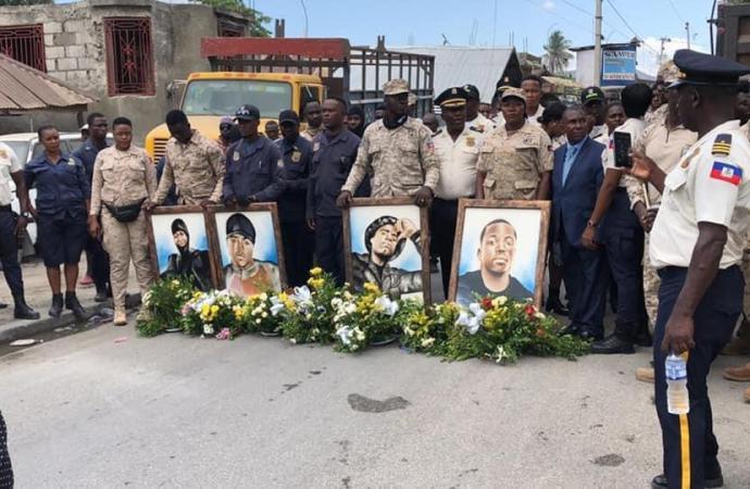Opération policière ratée à Village de Dieu, le commissariat de Saint-Marc rend homage aux policiers victimes