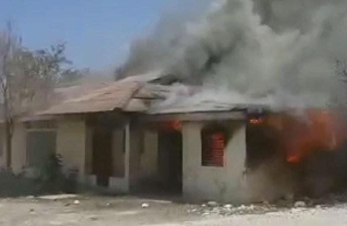 Incendie à l'un des bâtiments l'Organisation de Développement de la Vallée de l'Artibonite