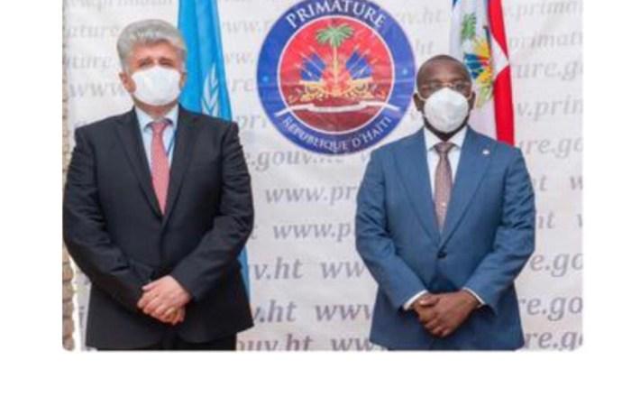 Claude Joseph s'est entretenu avec le sous-secrétaire général de l'ONU en visite en Haïti