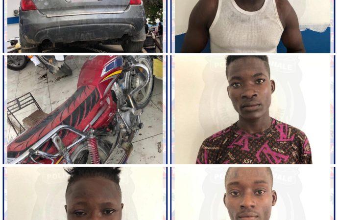 Opération policière : Cinq individus arrêtés dans la commune de la Croix-des-Bouquets