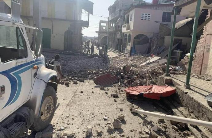 Un Séisme de magnitude 6,72 en Haïti, des dégâts enregistrés dans le Sud
