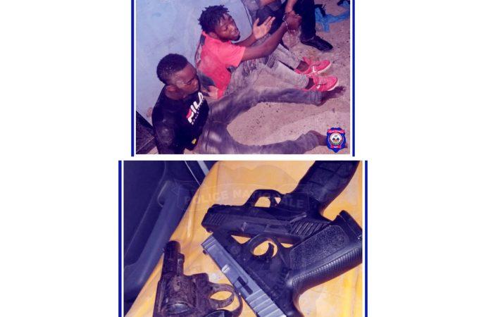 Sécurité: 3 présumés bandits arrêtés dans les Nippes