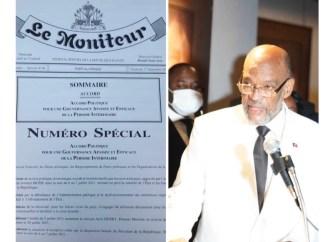 Publication de l'Accord d'Ariel Henry dans le journal Le Moniteur : un acte illégal, selon Lyonel Valbrun