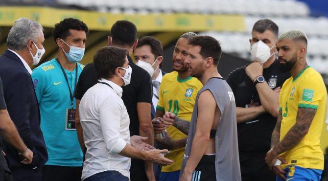 Sport-Covid-19: Suspension de la rencontre Brésil vs Argentine