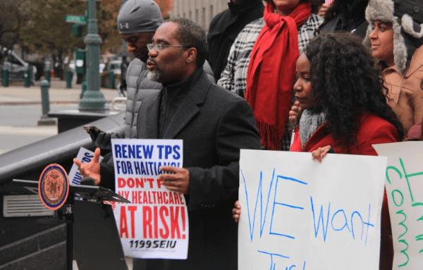 protest for haiti tps holders