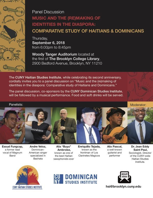 Haitian Studies Institute Hosts Conversation on Music & the Remaking of the Haitian Diaspora