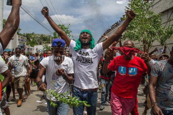 Demonstrators Call for Resignation of Haiti President During Sunday Protest