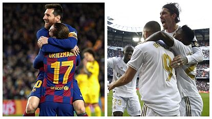Madrid and Barcelona in search of a winning streak that could decide the title