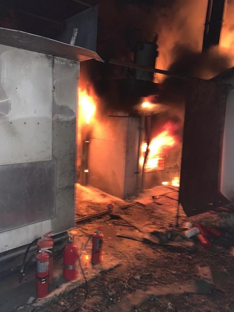 Gheskio, the Infectious diseases center in Haiti's Bicentenaire neighborhood is set ablaze